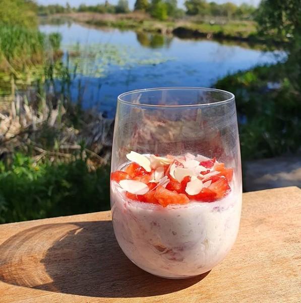 Keto Parfait aux fraises