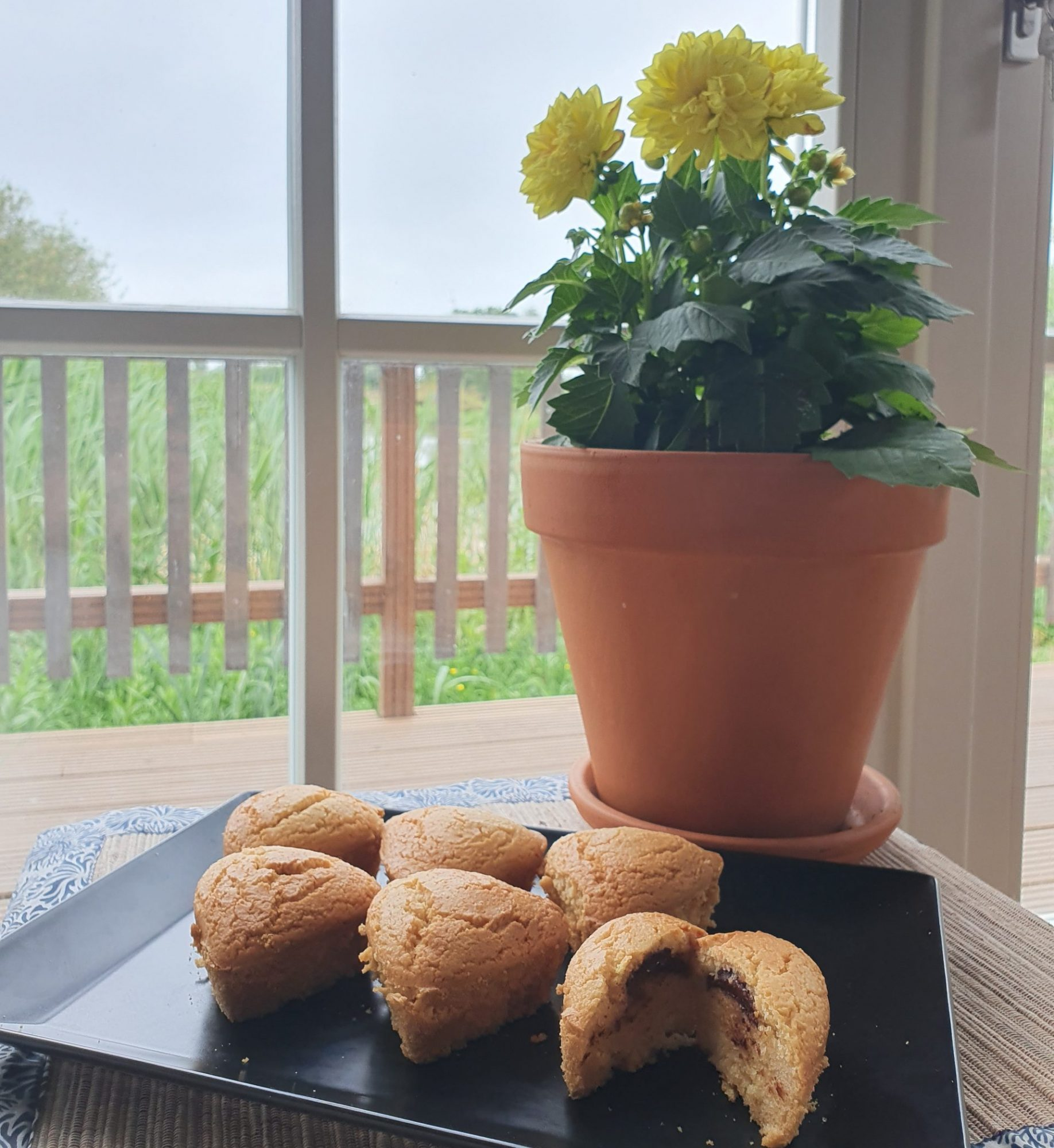 Keto Muffins 100% amandes / coeur choco