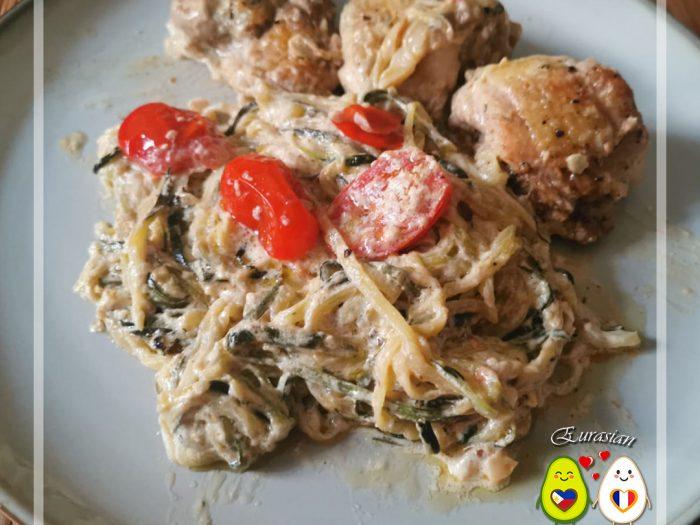 Keto Poulet à la toscane et zoodles | céto